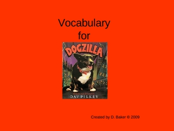 Dogzilla Vocabulary Houghton Mifflin Series