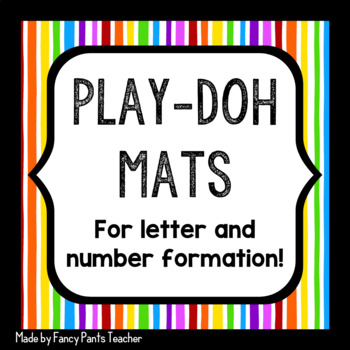 Doh Mats for Letter and Number Formation