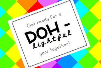 Doh-lighted first day gift tag