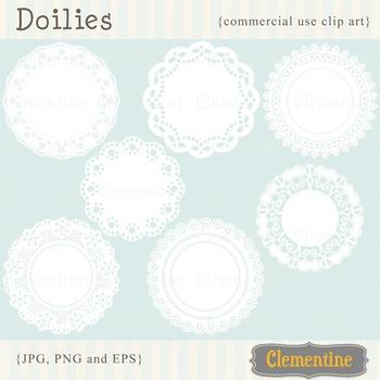 Doilies clip art images, doilies vector images