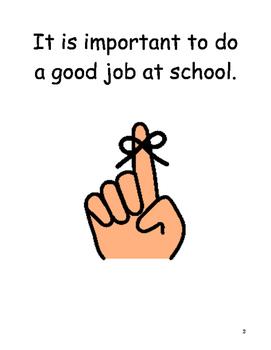Doing A Good Job Social Story