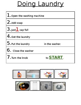 Doing Laundry: Cut and Paste