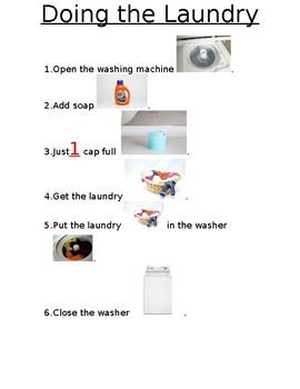 Doing Laundry: Visual Steps