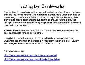 Doing More with Silent Reading: Student Bookmarks