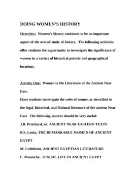 Doing Women's History