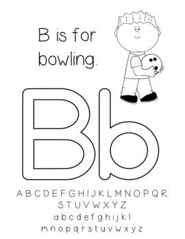 Doing the Alphabet ABC Letters Book for Kindergarten