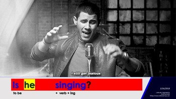 Doing things - English: Present Continuous
