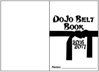 Dojo Belt Brag Book! Brag Tag book with editable date!