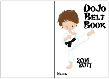 Dojo Belt Brag Tag Book!! Brag Tag book with editable date!