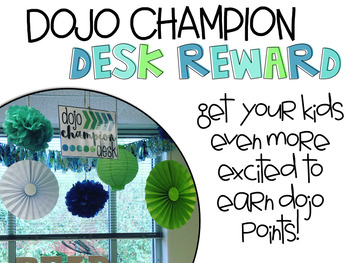 Dojo Champion Desk Reward {EDITABLE}