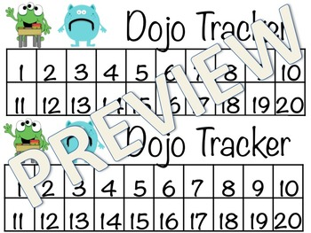 Dojo Desk Points Tracker & Parent Letter