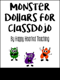 Monster Dollars for ClassDojo or Class Economy System