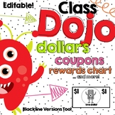 ClassDojo Dollars and Classroom Coupons - Editable