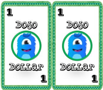 Dojo Dollars for Printable Business Cards