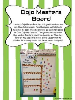 Dojo Masters -- A Class Dojo Resource