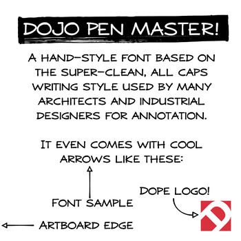 Dojo Pen Master Font