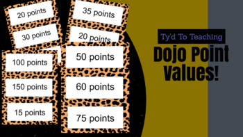 Dojo Point Values for Bulletin Board! *Editable*