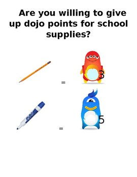 Dojo Points for School Supplies