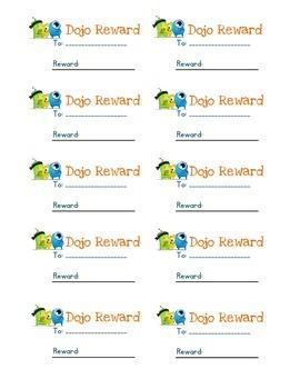 Dojo Reward Cards