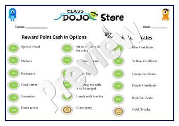 Dojo Reward Classroom Management / discipline Behaviour system