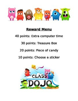 Dojo Rewards Chart