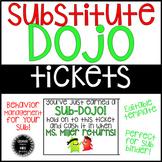 Dojo Substitute Tickets EDITABLE