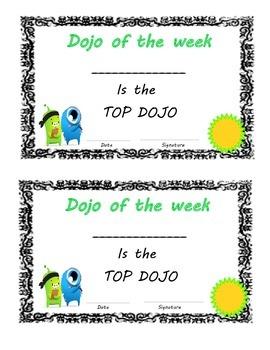 Dojo of the Week Award