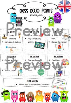 Dojo reward system