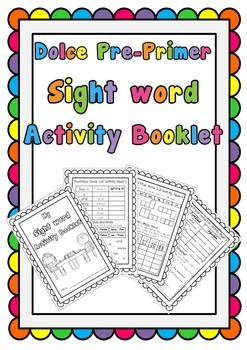 Dolce Pre-Primer Sight Word Activity Booklet