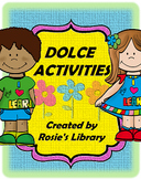 Back to School Dolce Sight Word Activities