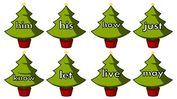 Dolce Sight Word Christmas Tree Cards (First Grade)