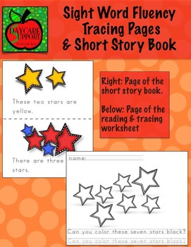 Dolce Sight Word Fluency Tracing Pages & Short Story Book @Daycare Support