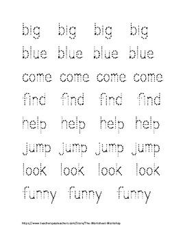 Word tracing worksheets pdf