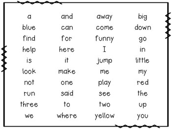 Dolce Sight Words Assessment