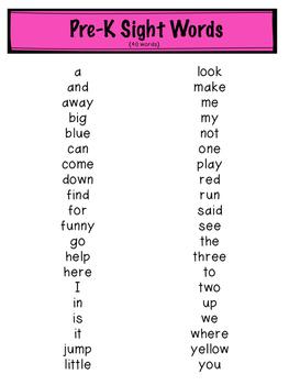 Dolch Sight Words Flash Cards Freebie
