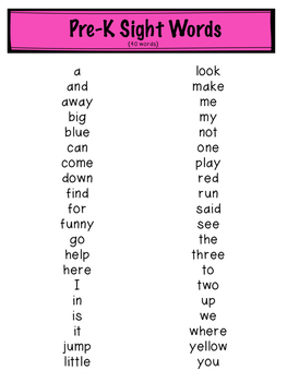 Dolch Sight Words Flash Cards Freebie