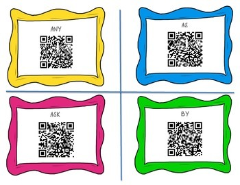 Dolce Sight Words QR Code Cards-1st Grade