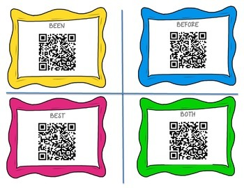 Dolce Sight Words QR Code Cards-2nd Grade