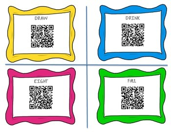 Dolce Sight Words QR Code Cards -3rd Grade