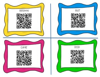 Dolce Sight Words QR Code Cards-Primer