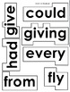 Dolch 1st, 2nd, and 3rd Grade Words for Word Wall