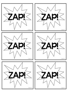 Dolch 1st (First) Grade Printable Sight Words ZAP! Game