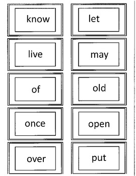 Dolch 1st Grade Flash Cards