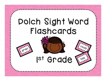 Dolch 1st Grade Flashcards