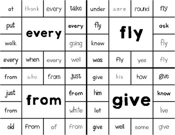 Dolch 1st Grade Sight Word Clip Around Cards