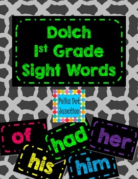 Dolch 1st Grade Sight Word Flash Cards/Word Wall Cards