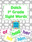 Dolch 1st Grade Sight Word Flash Cards/Word Wall Cards in White