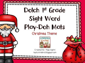 Dolch 1st Grade Sight Word Play Doh Mats-Christmas Theme