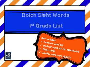 Dolch 1st Grade Weekly Sight Word Work