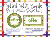 Dolch 1st Grade Word Wall Cards ~  Rectangle or Square Shaped